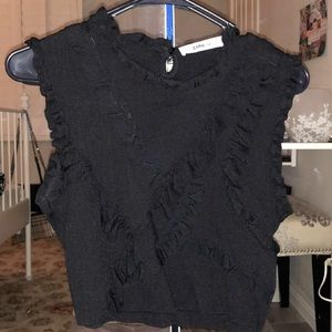 Ruffled Zara top Size Small